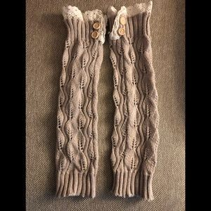 Accessories - Lace and Knit Boot Cuffs
